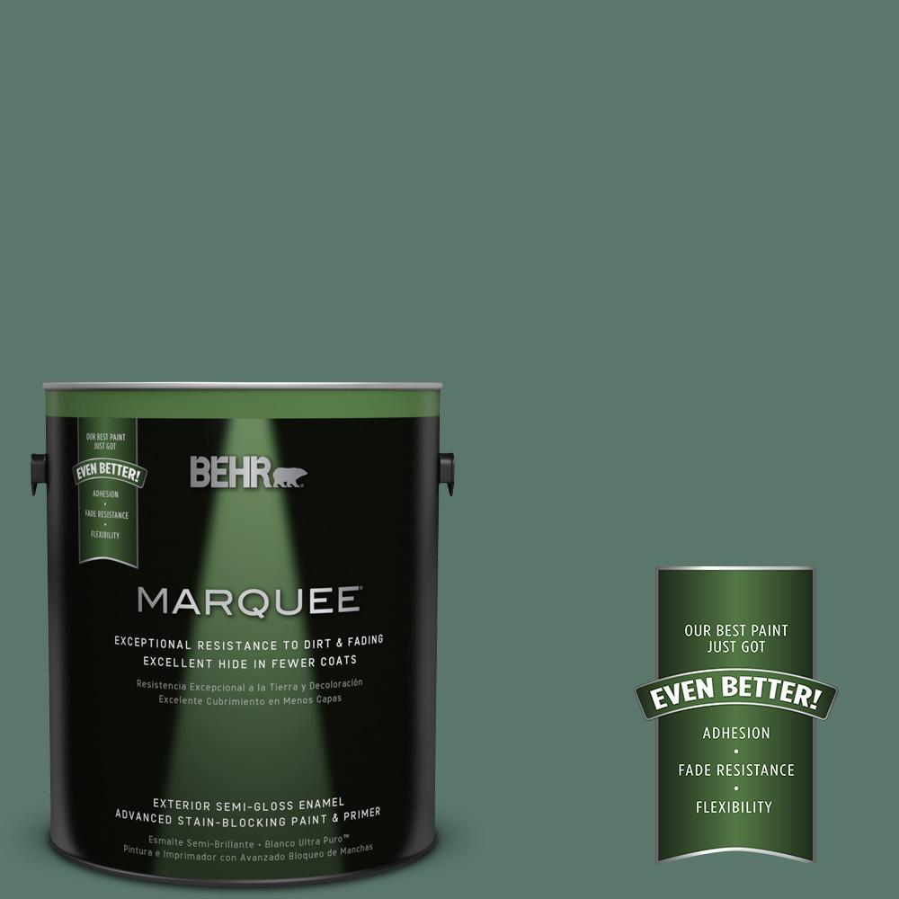 BEHR MARQUEE 1-gal. #S420-6 Pine Brook Semi-Gloss Enamel Exterior Paint-545301 -