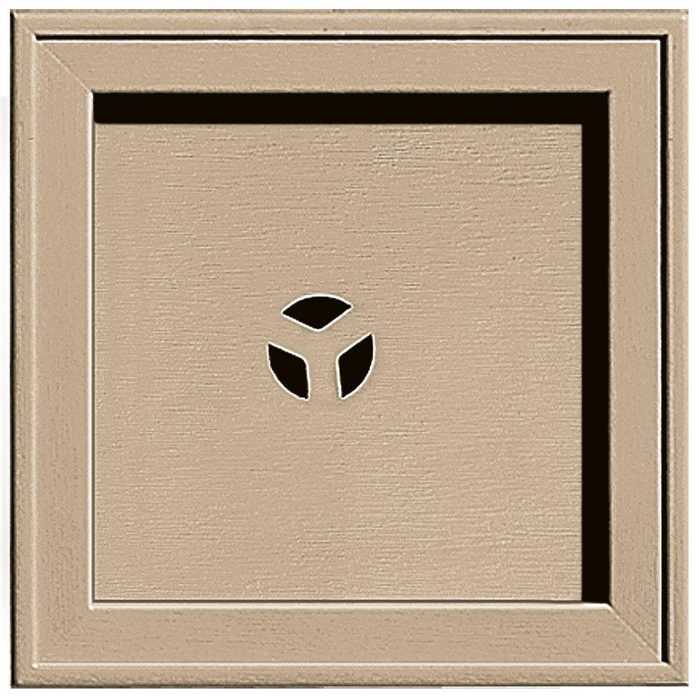 Builders Edge 7.75 in. x 7.75 in. #069 Tan Recessed Square Mounting Block