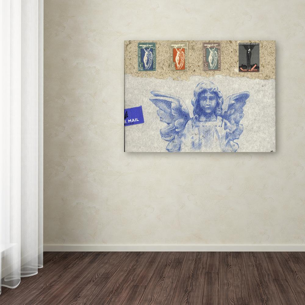 "14 in. x 19 in. ""Blue Angel"" by Nick Bantock Printed"