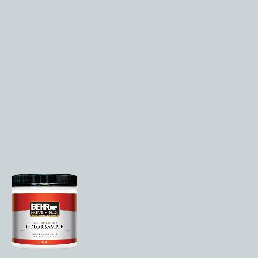 BEHR Premium Plus 8 oz. #N490-1 Absolute Zero Interior/Exterior Paint Sample