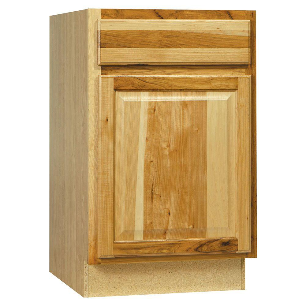 Hampton Bay Assembled 21x34.5x24 in. Hampton Base Cabinet with Ball-Bearing