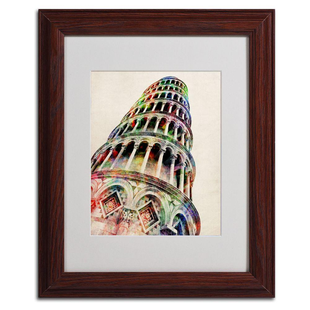 11 in. x 14 in. Leaning Tower Pisa Matted Framed Art-MT0185-W1114MF