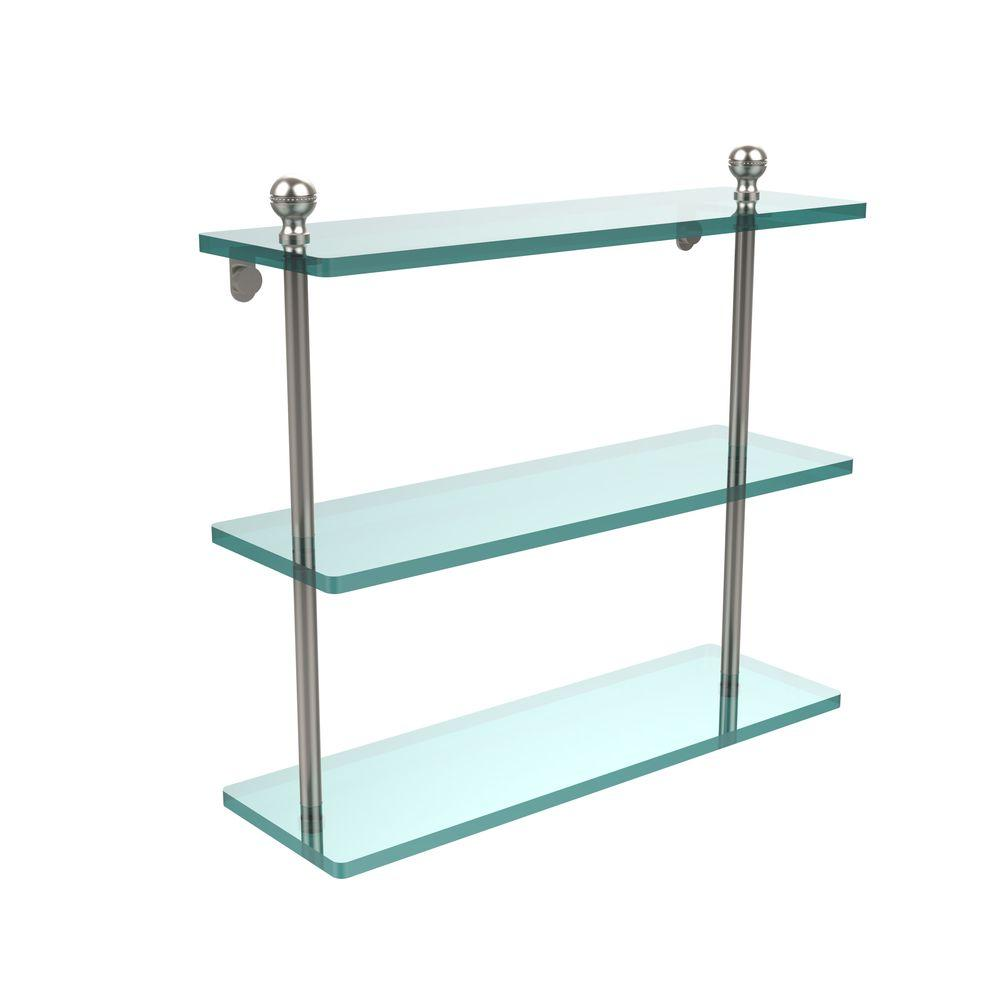 Allied Brass Mambo Collection 16 in. W Triple Tiered Glass Shelf