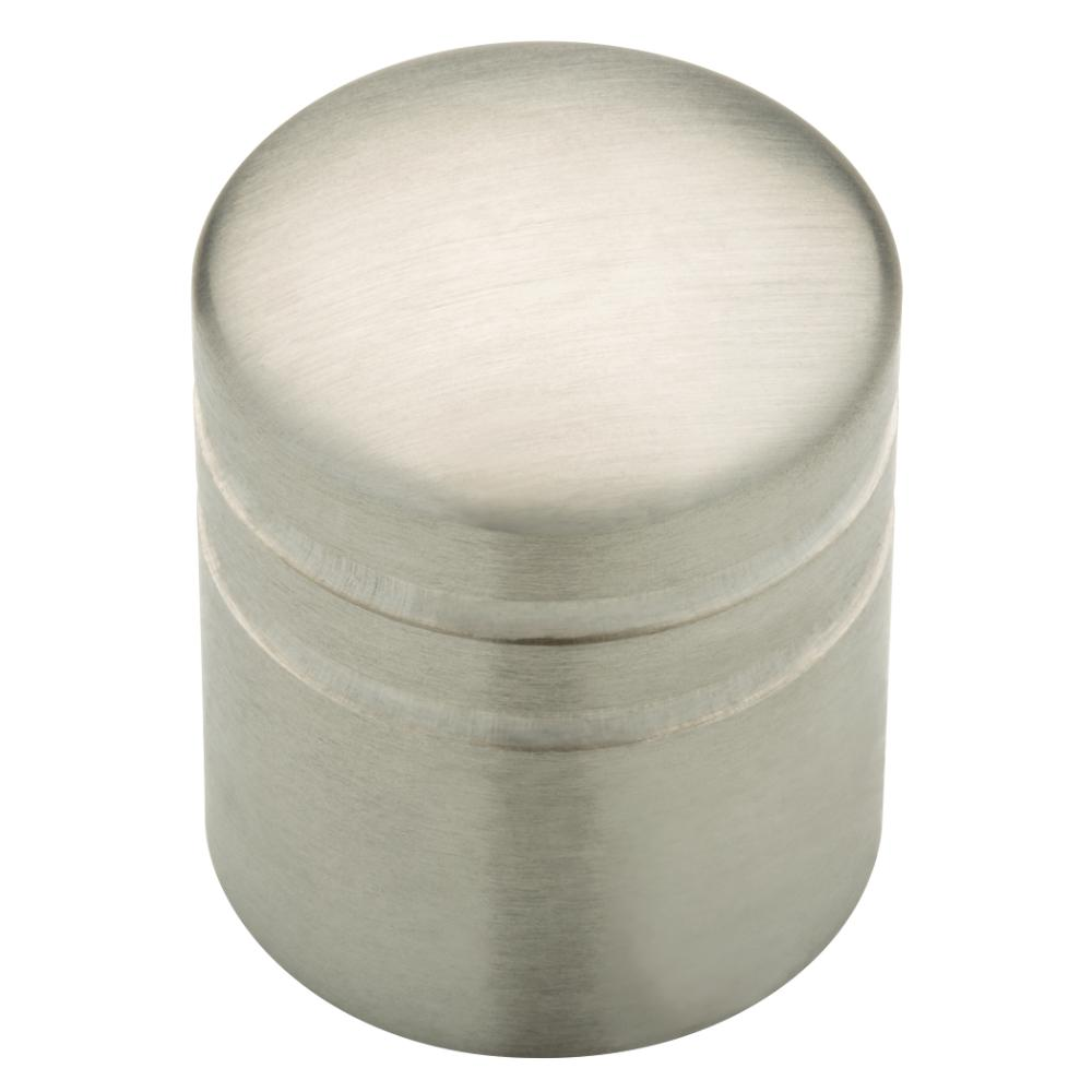 1 in. Stainless Steel Cylinder Cabinet Knob