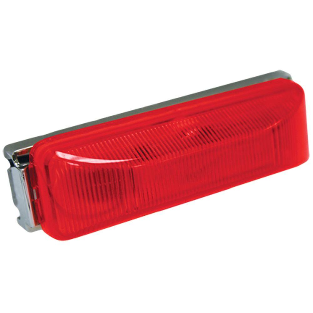 4 in. Sealed Rectangular LED Running Board Light, Red