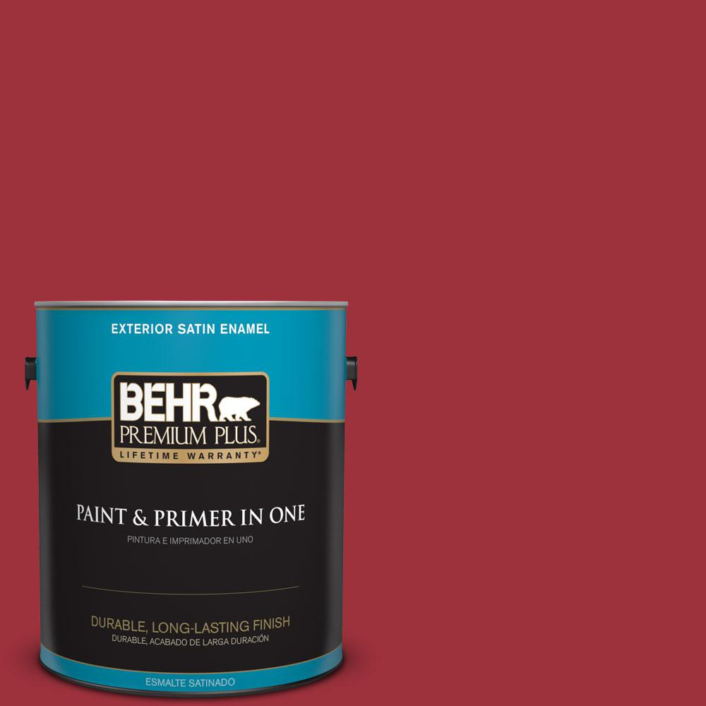 1-gal. #S-G-150 Ruby Ring Satin Enamel Exterior Paint
