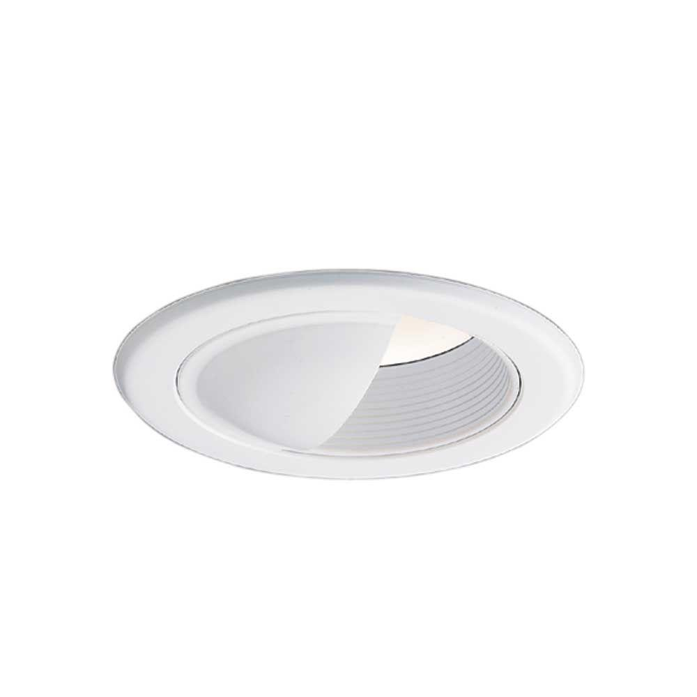 5 in. White Recessed Lighting Wall Wash Baffle Trim