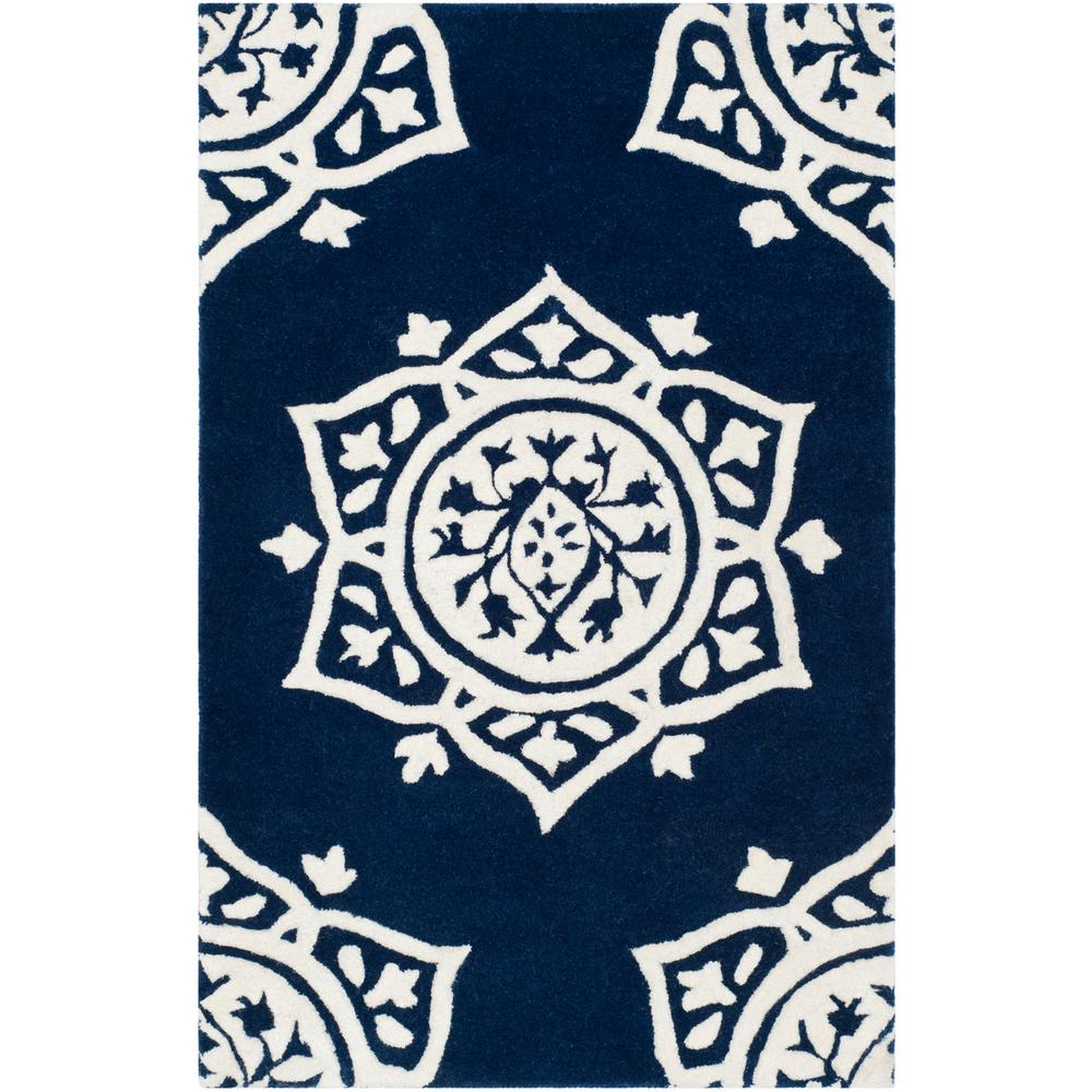 Bella Navy/Ivory 2 ft. 6 in. x 4 ft. Area Rug