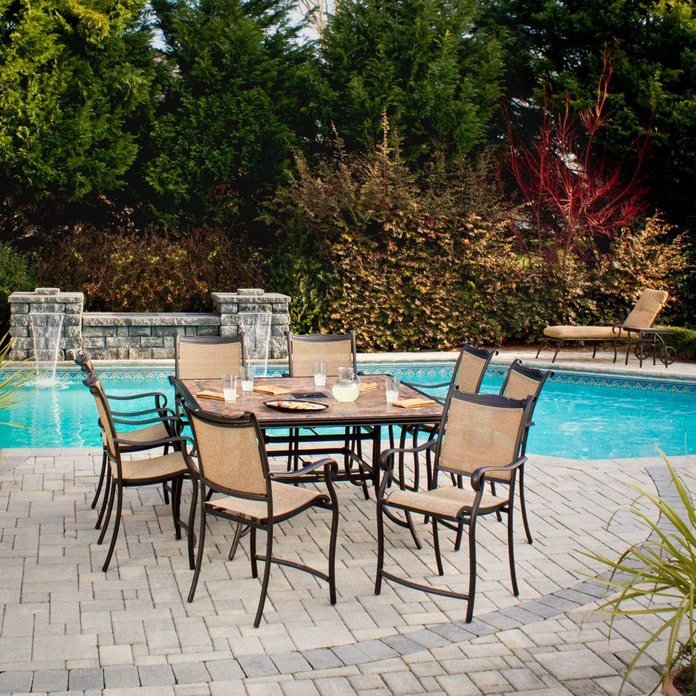 Hampton Bay Westbury 9-Piece Patio High Dining Set