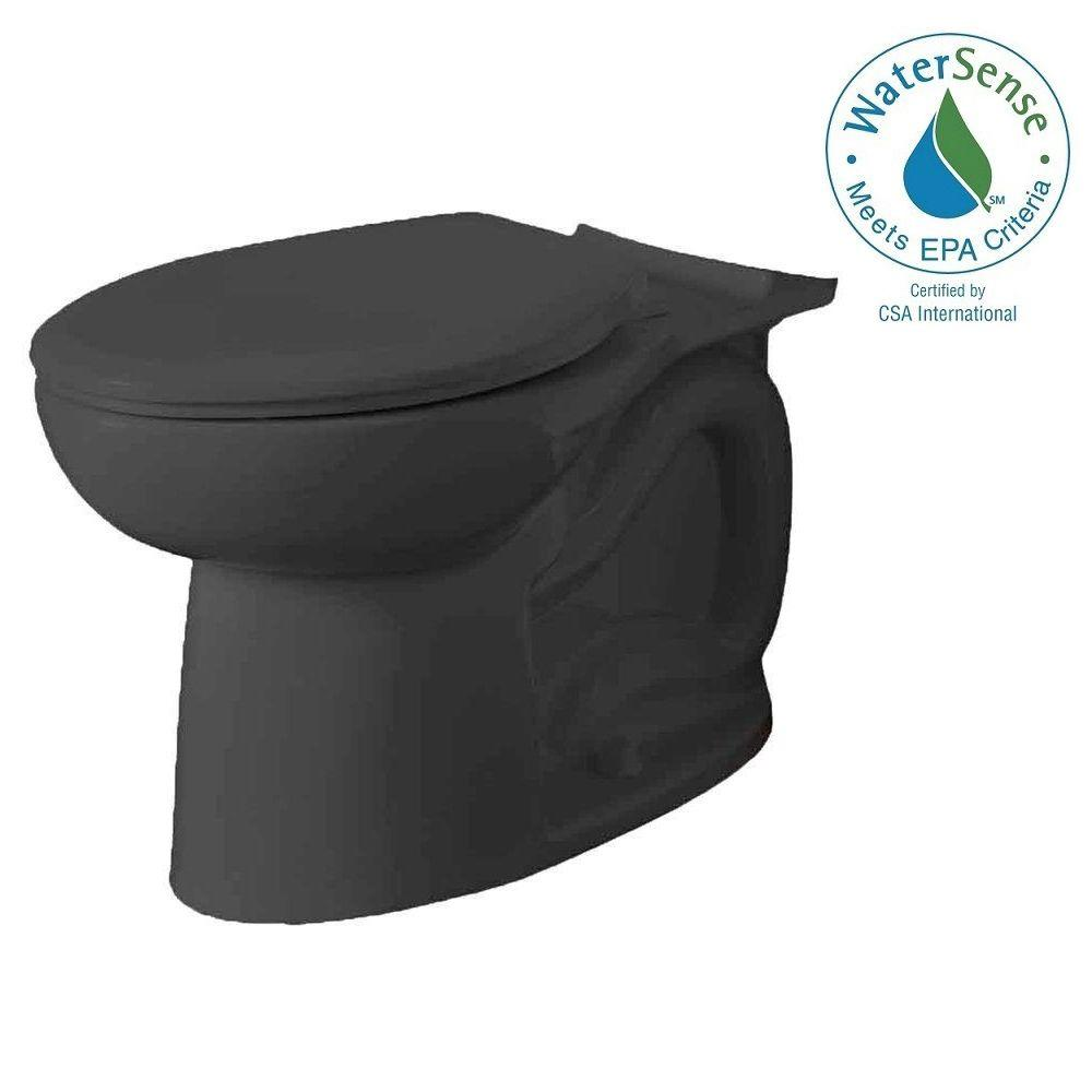 Cadet 3 FloWise Tall Height Elongated Toilet Bowl Only in Black