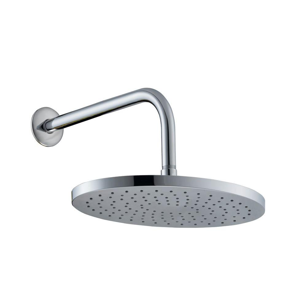 Glacier Bay 1-Spray 12 in. Oval Showerhead with 12 in. Stainless Steel Arm and Flange in Chrome