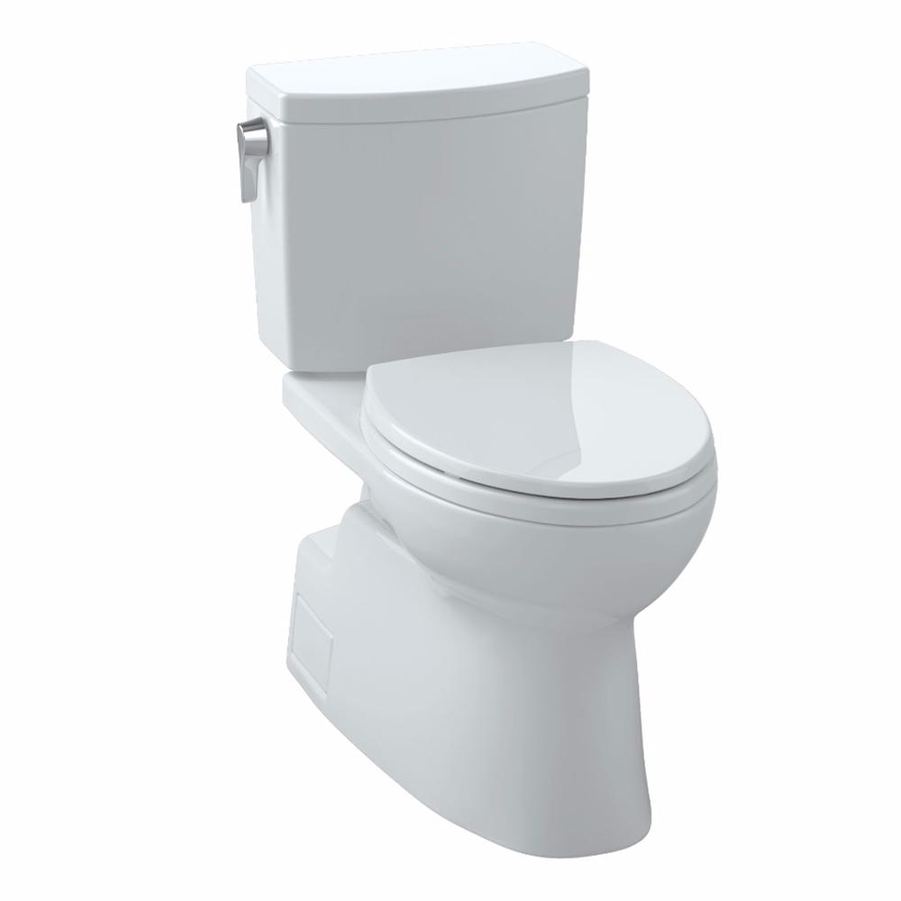 Vespin II 2-Piece 1.0 GPF Single Flush Elongated Toilet in Cotton