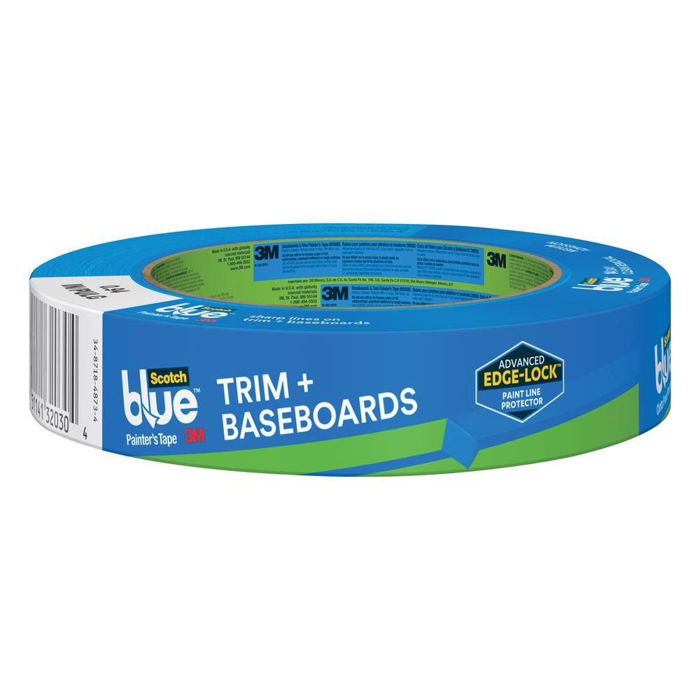 3M ScotchBlue 0.94 in. x 60 yds. Advanced Multi-Surface Painter's Tape with Edge-Lock