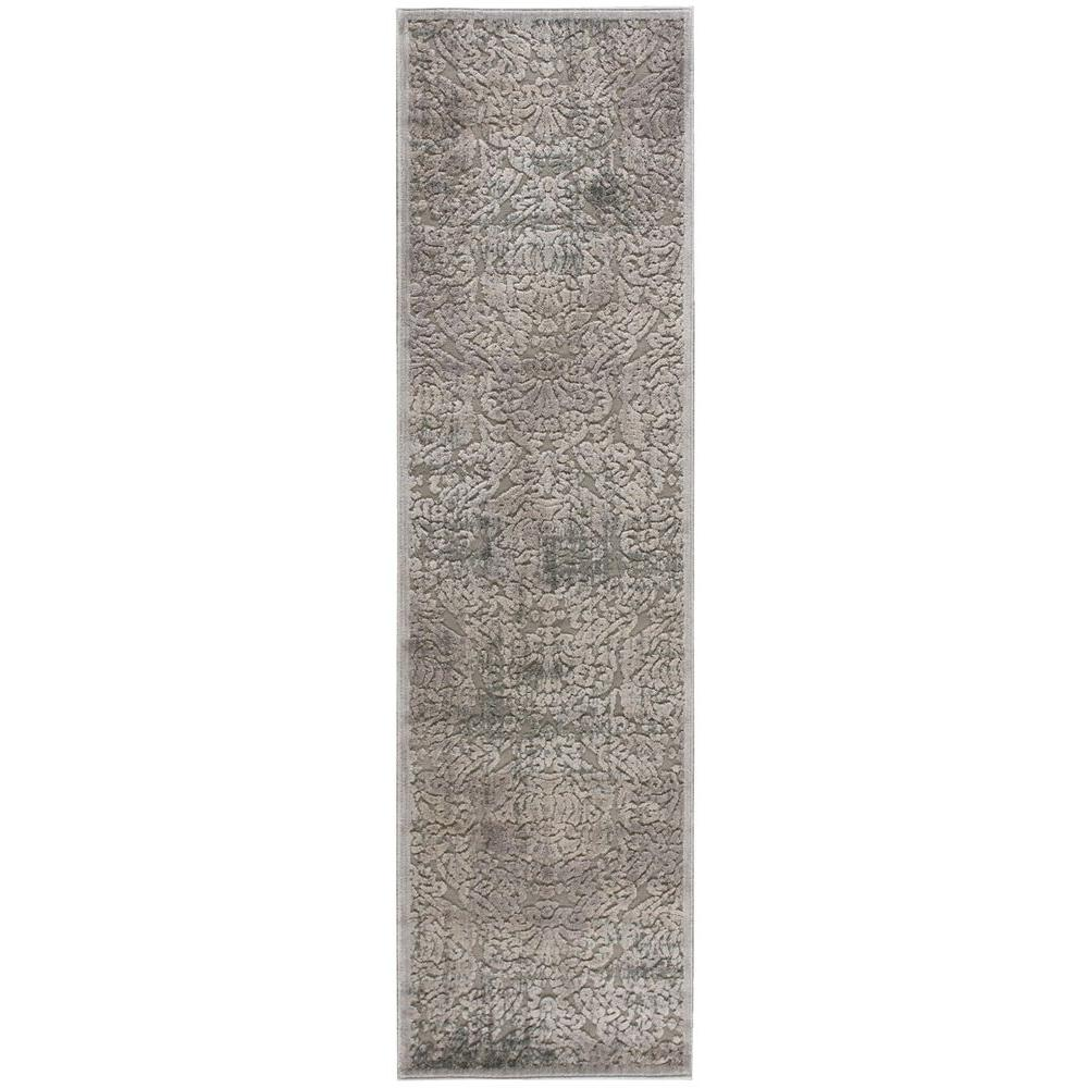 Graphic Illusions Grey 2 ft. 3 in. x 8 ft. Rug