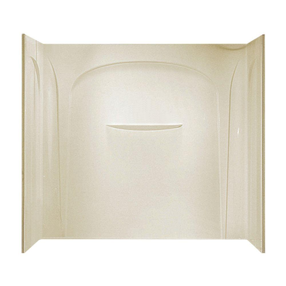 STERLING Acclaim 31-1/2 in. x 60 in. x 55-1/2 in. Three Piece Direct-to-Stud Tub and Shower Wall Set in Almond-DISCONTINUED
