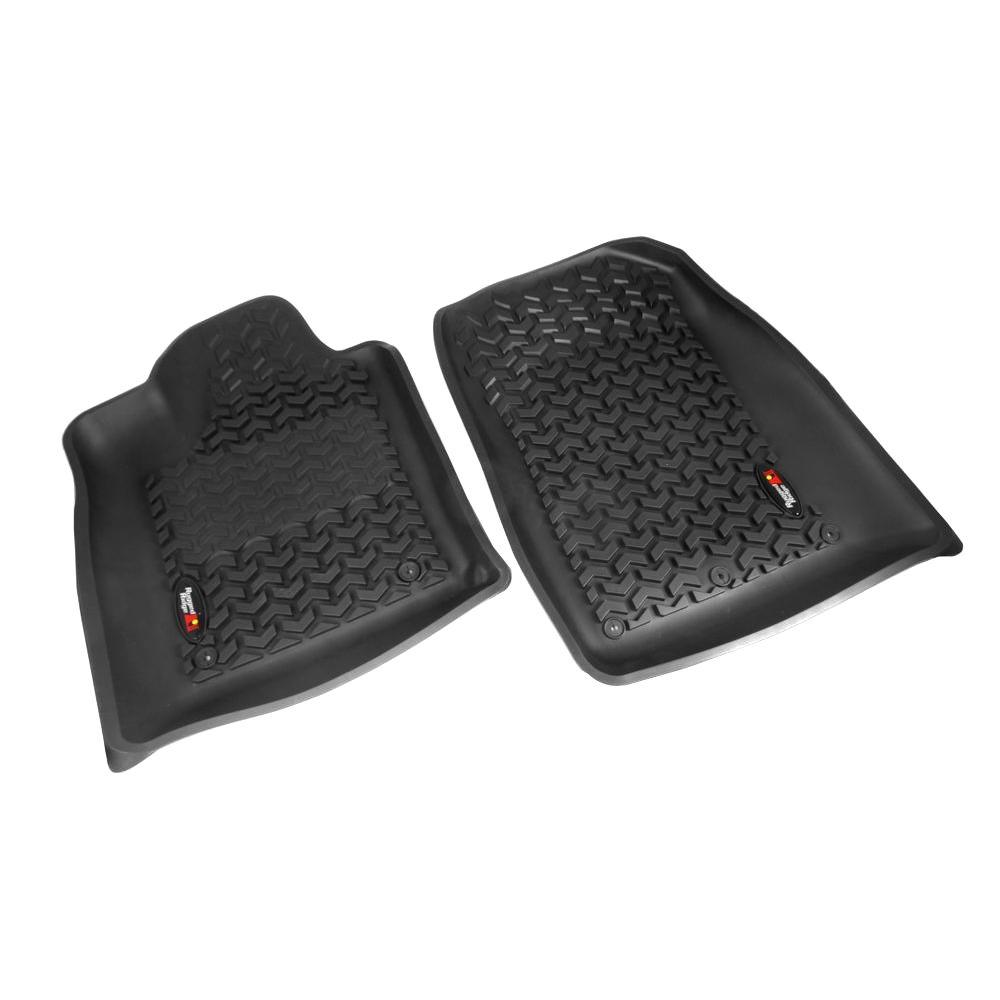 Floor Liner Front Pair Black 2012-2014 Jeep Gr and Cherokee WK