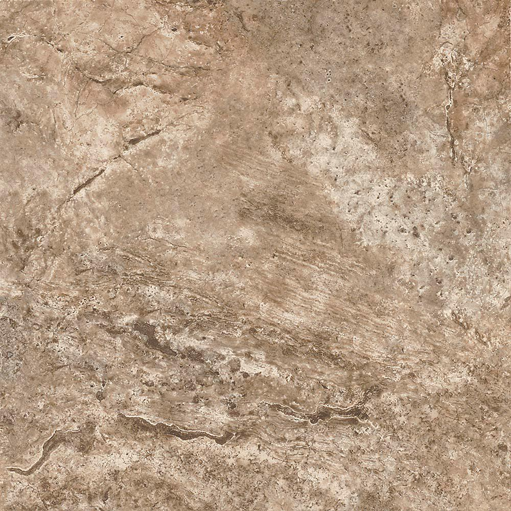 12 in. x 12 in. Fawn Travertine Silver Residential Peel and