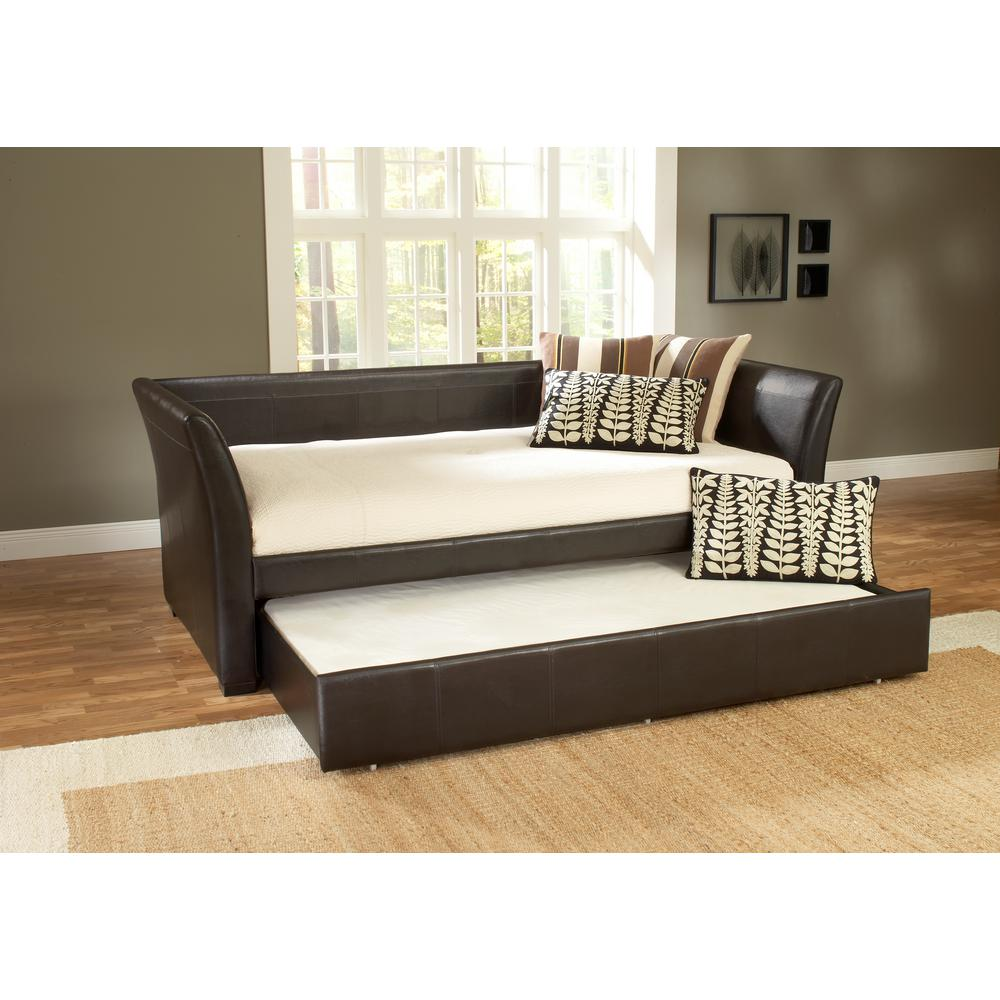 malibu brown trundle day bed