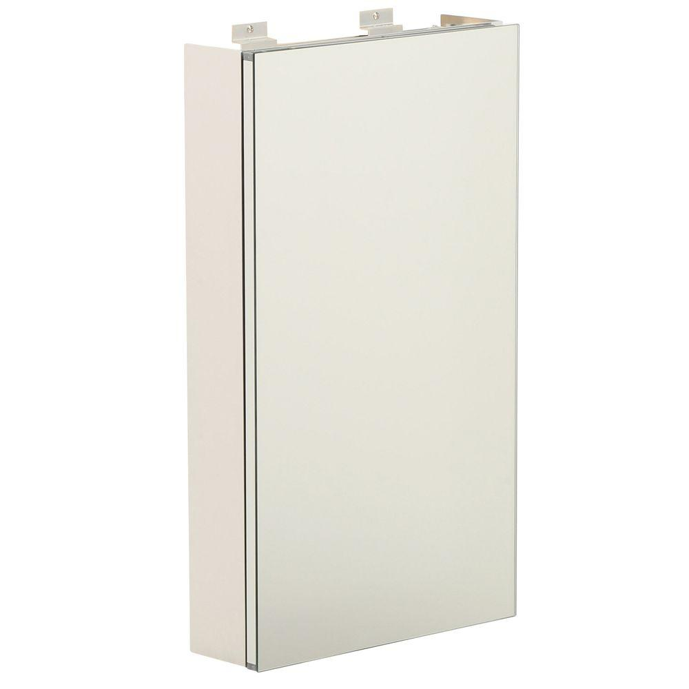 Glacier Bay 15 in. W x 26 in. H Frameless Surface-Mount Night Light Bathroom Medicine Cabinet with Motion & Photocell Sensor
