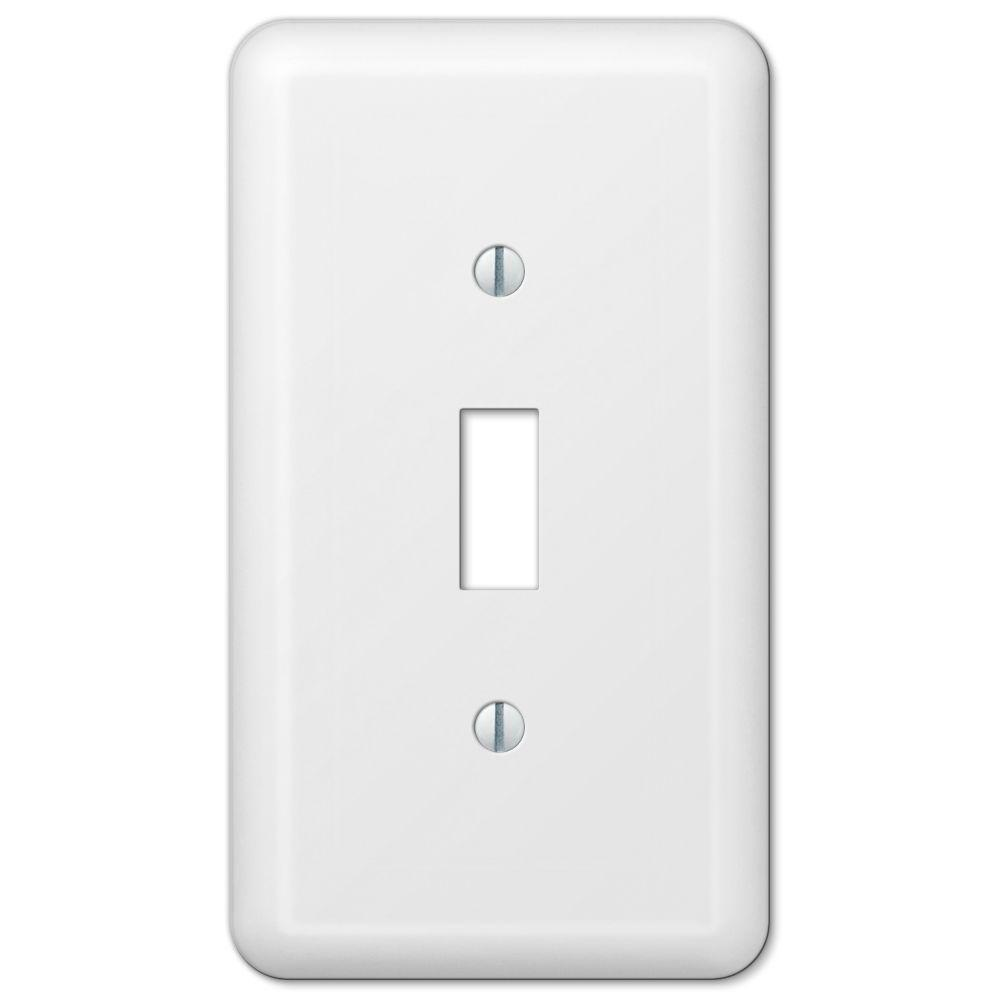 Declan 1 Toggle Wall Plate - White Steel
