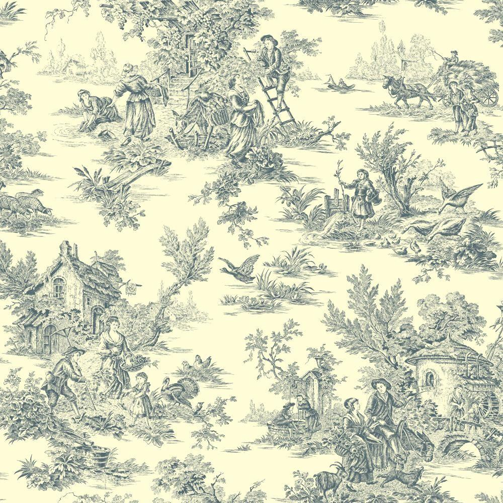 York Wallcoverings Champagne Toile Wallpaper