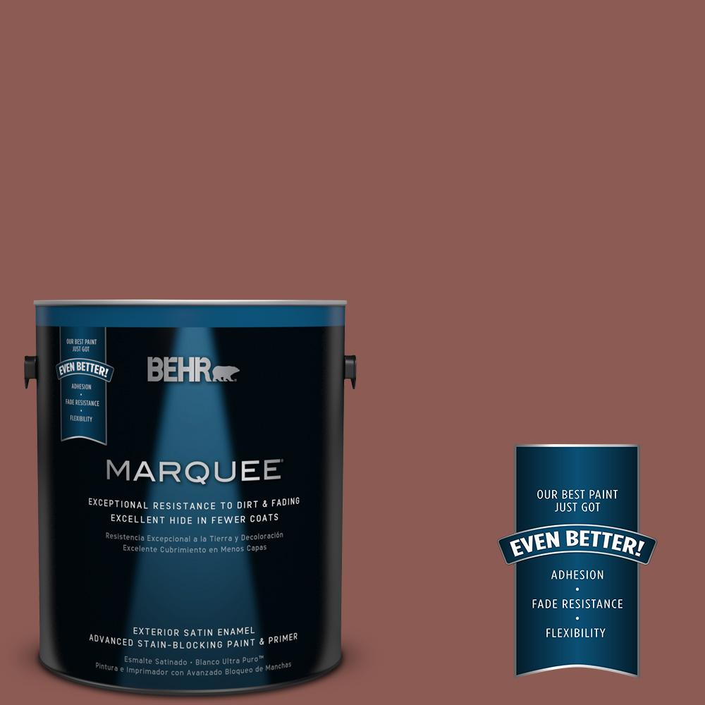 BEHR MARQUEE 1-gal. #190F-6 Bold Brick Satin Enamel Exterior Paint