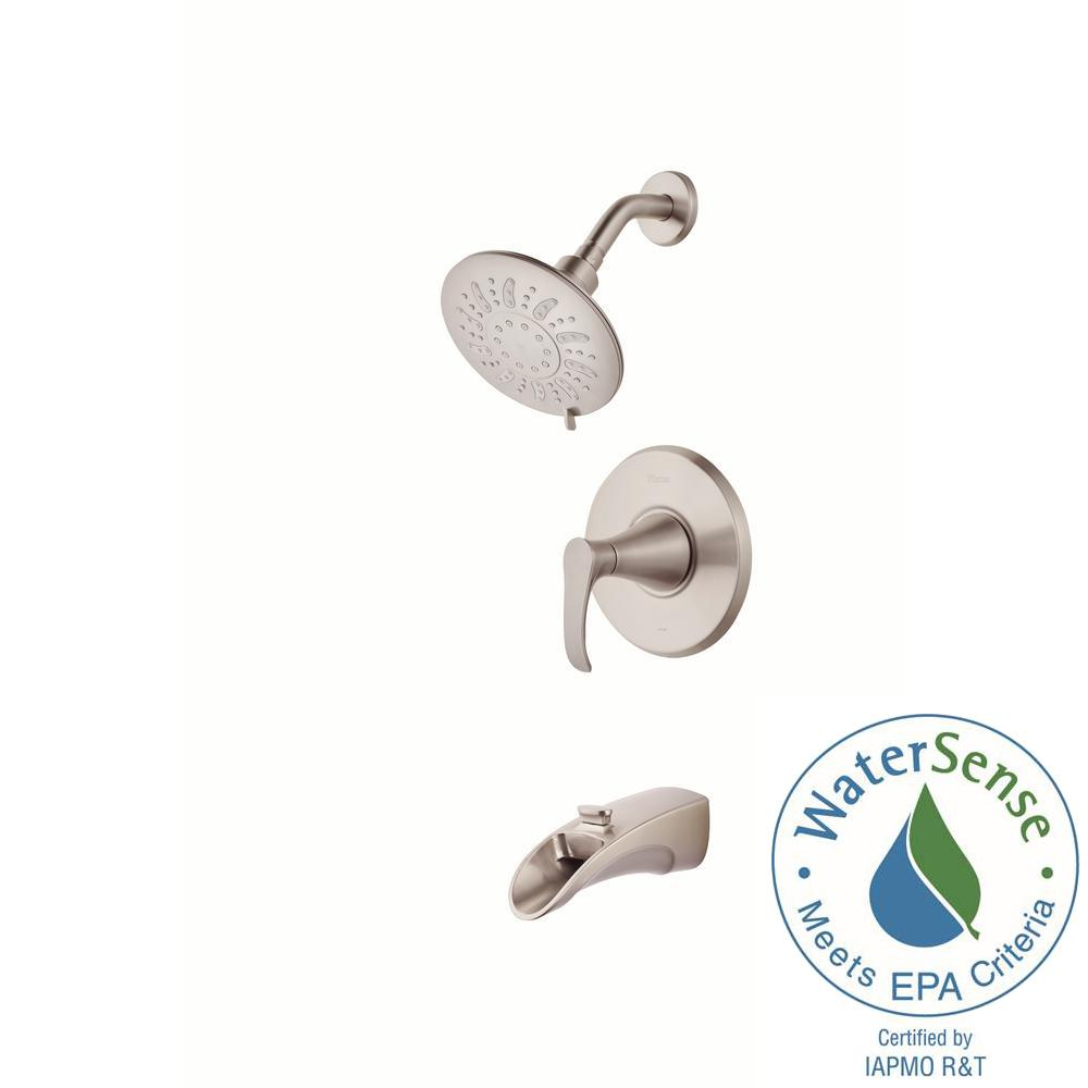 Pfister Brea Single-Handle 3-Spray Tub and Shower Faucet in Brushed Nickel