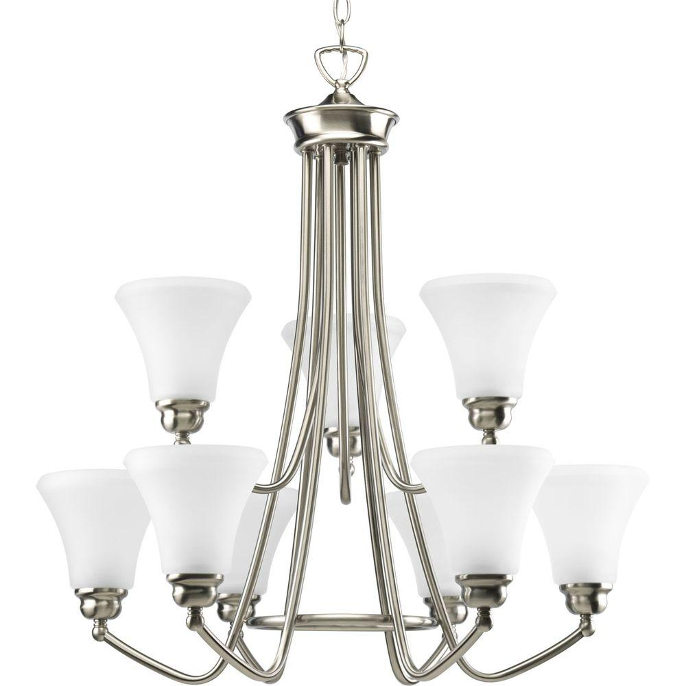 Progress Lighting Janos Collection 9-Light Brushed Nickel Chandelier-DISCONTINUED