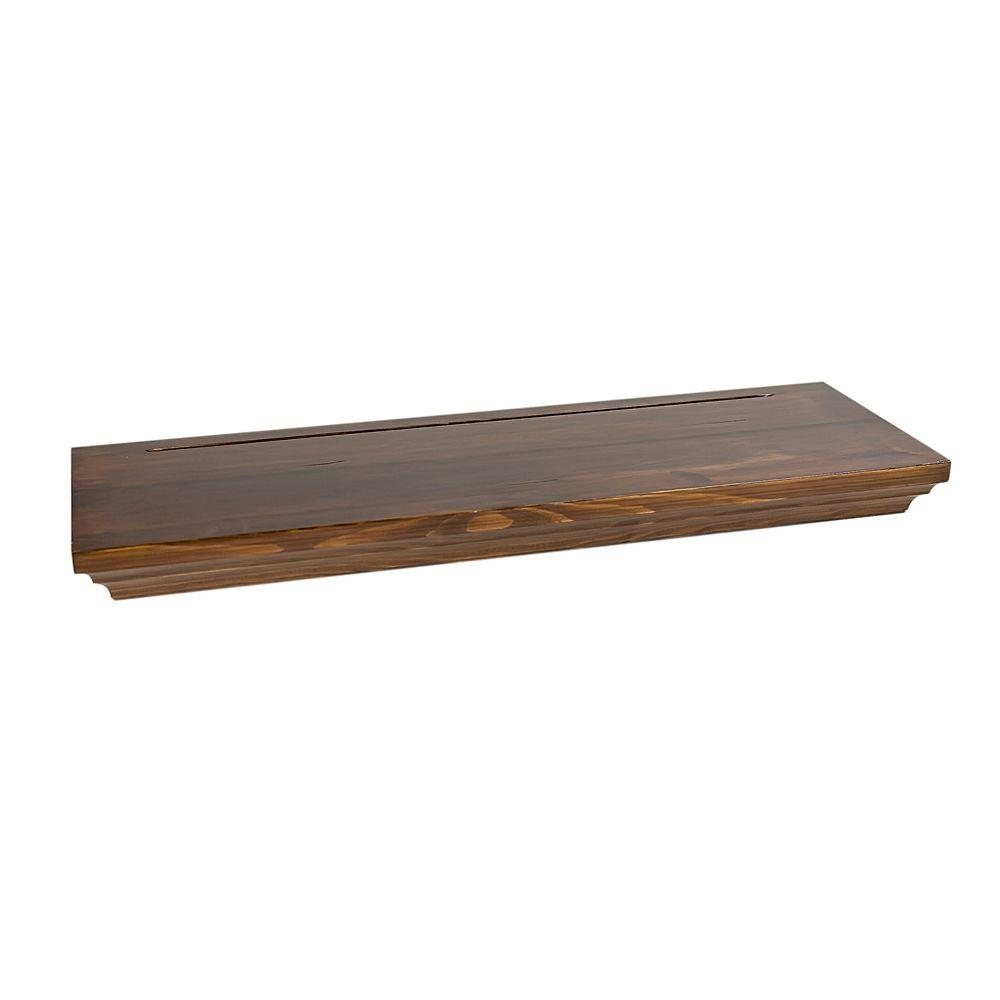 Wallscapes 8 in. x 1-3/4 in. Floating Pecan Wood Shelf (Price