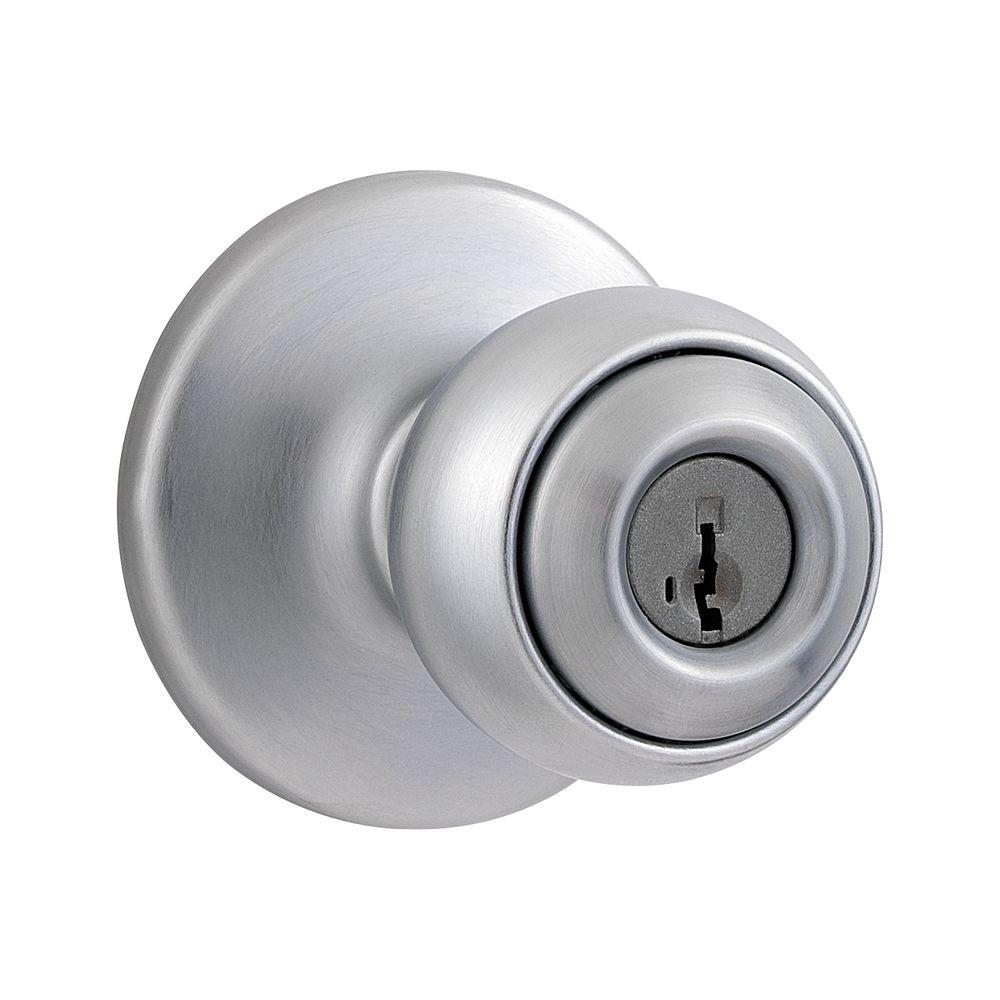 Kwikset Polo Polished Chrome Entry Knob Featuring SmartKey-400P 26 SMT 6ALRCS