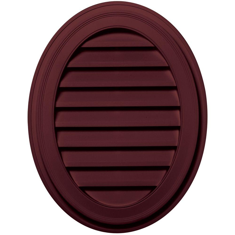 Builders Edge 27 in. Oval Gable Vent in Wineberry