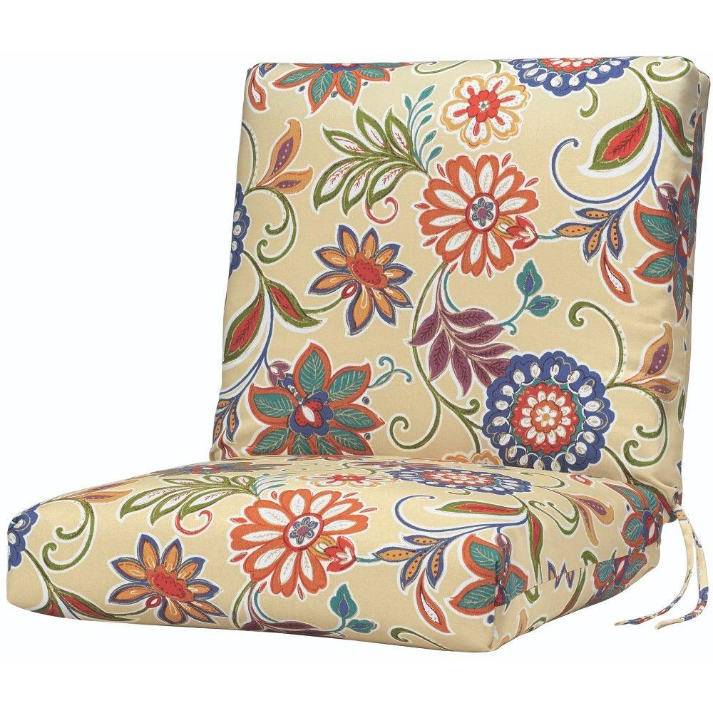Home Decorators Collection Alinea Garden Outdoor Dining Chair Cushion-1573110130