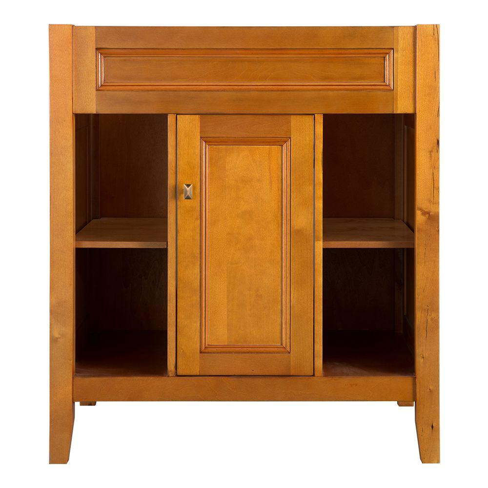Home Decorators Collection Exhibit 30 in. W x 21.63 in. D x 34 in. H Vanity Cabinet Only in Rich Cinnamon