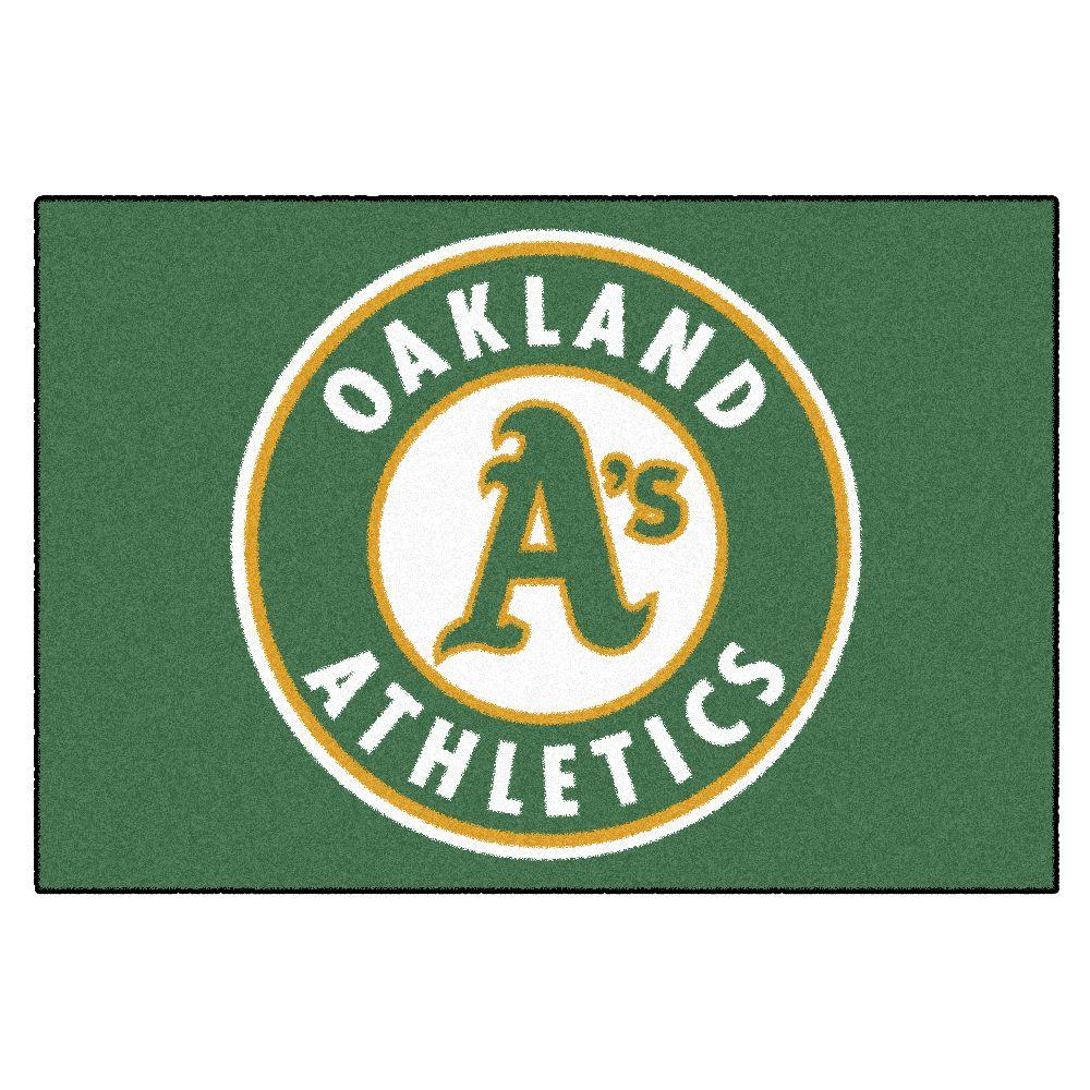 FANMATS Oakland Athletics 19 in. x 30 in. Accent Rug