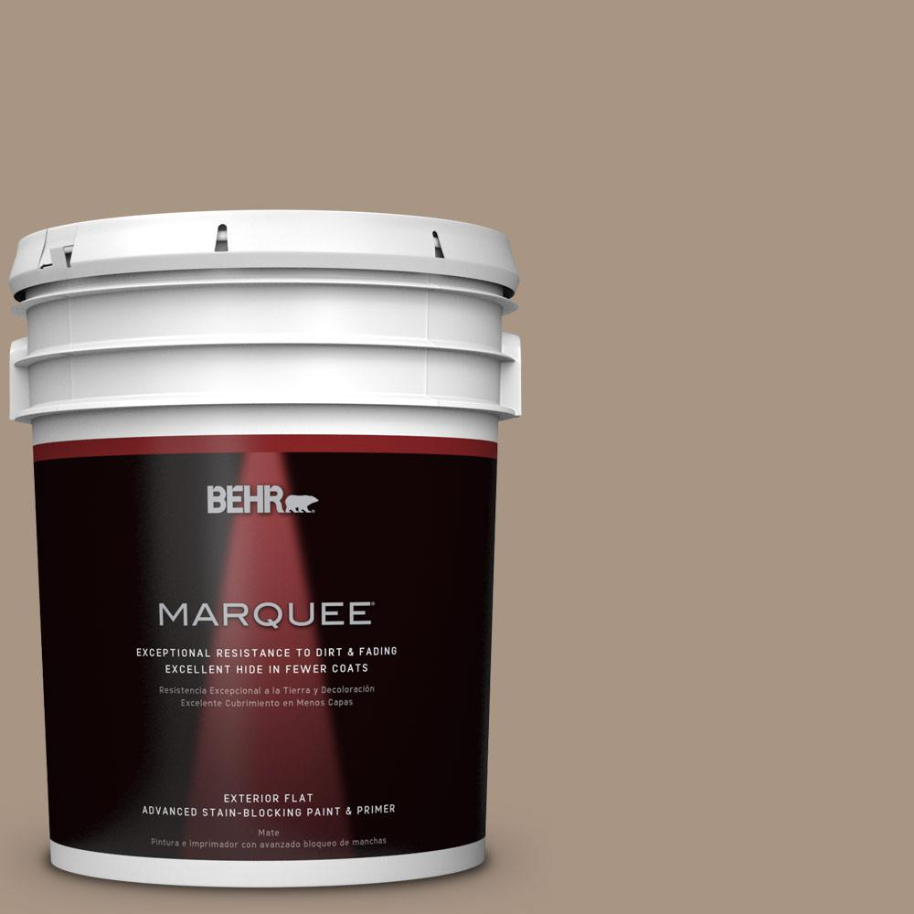 BEHR MARQUEE 5 gal. #T17-11 Silent Sands Matte Exterior Paint-445405 -