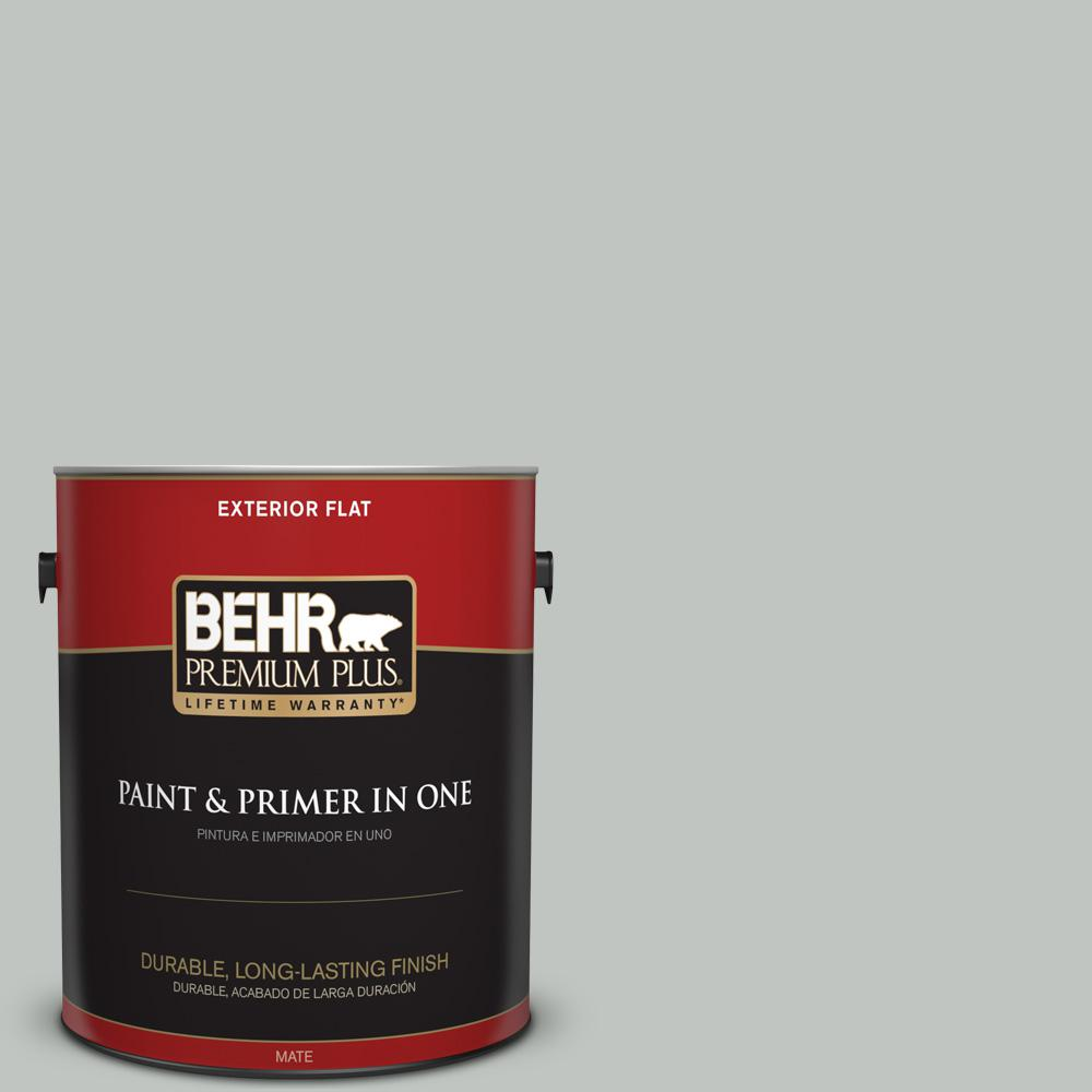 1 gal. #PPU25-14 Engagement Silver Flat Exterior Paint