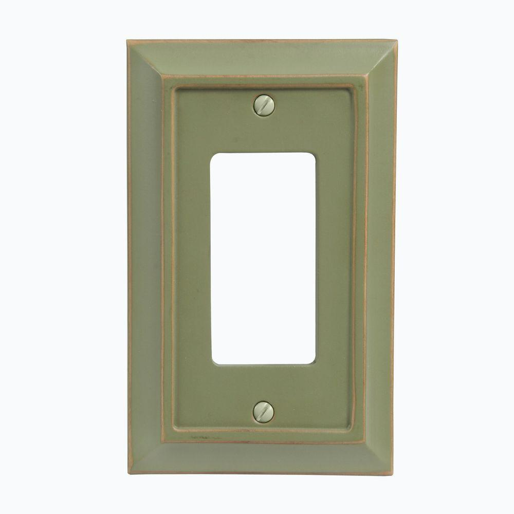 Distressed Matte Wood 1 Decora Wall Plate - Green