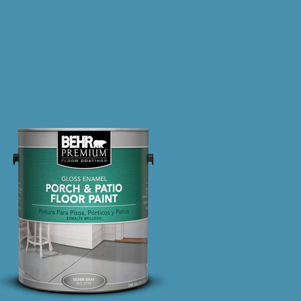 1 gal. #M490-5 Jet Ski Gloss Porch and Patio Floor Paint