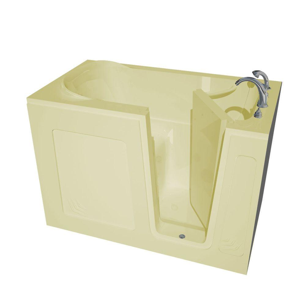 Universal Tubs 4.5 ft. Right Drain Walk-In Bathtub in Biscuit