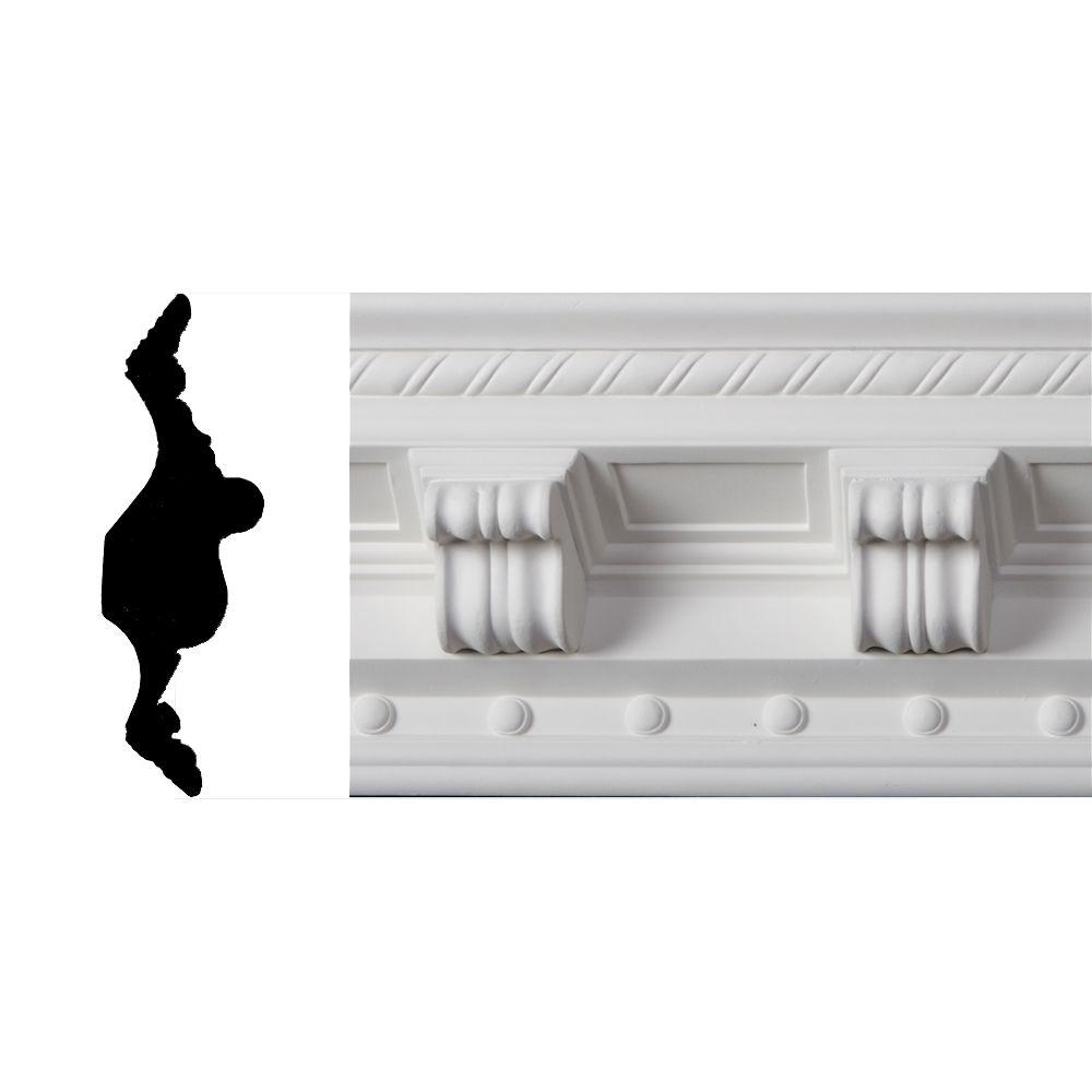 Lynea Molding Modillion Collection 8 in. x 8 ft. Polyurethane Crown Moulding-DISCONTINUED