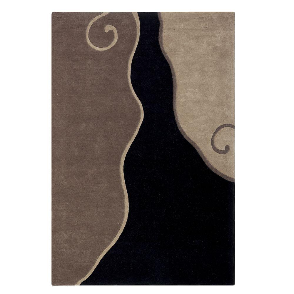 Home Decorators Collection Divani Black/Taupe 5 ft. 3 in. x 8 ft. Area Rug