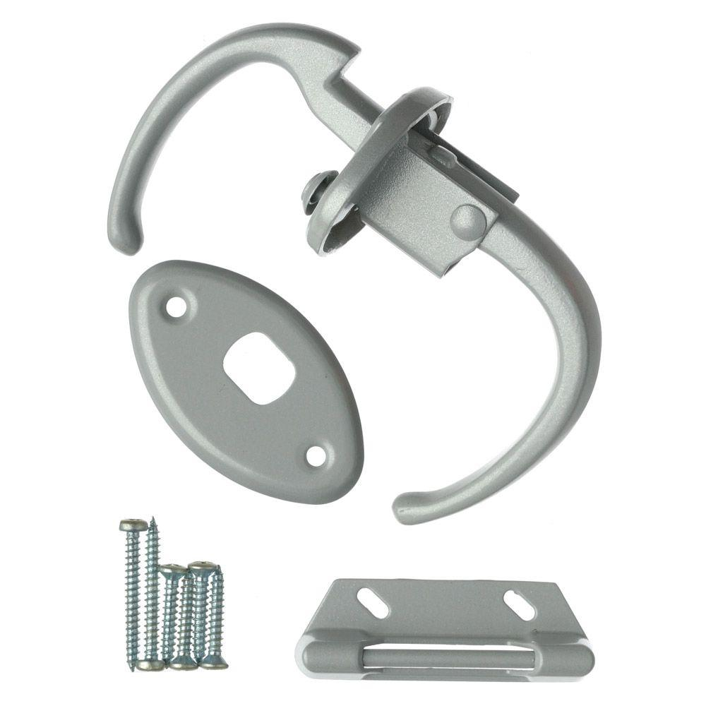 Wright Products Push Pull Latch in Aluminum-V1000 - The Home Depot