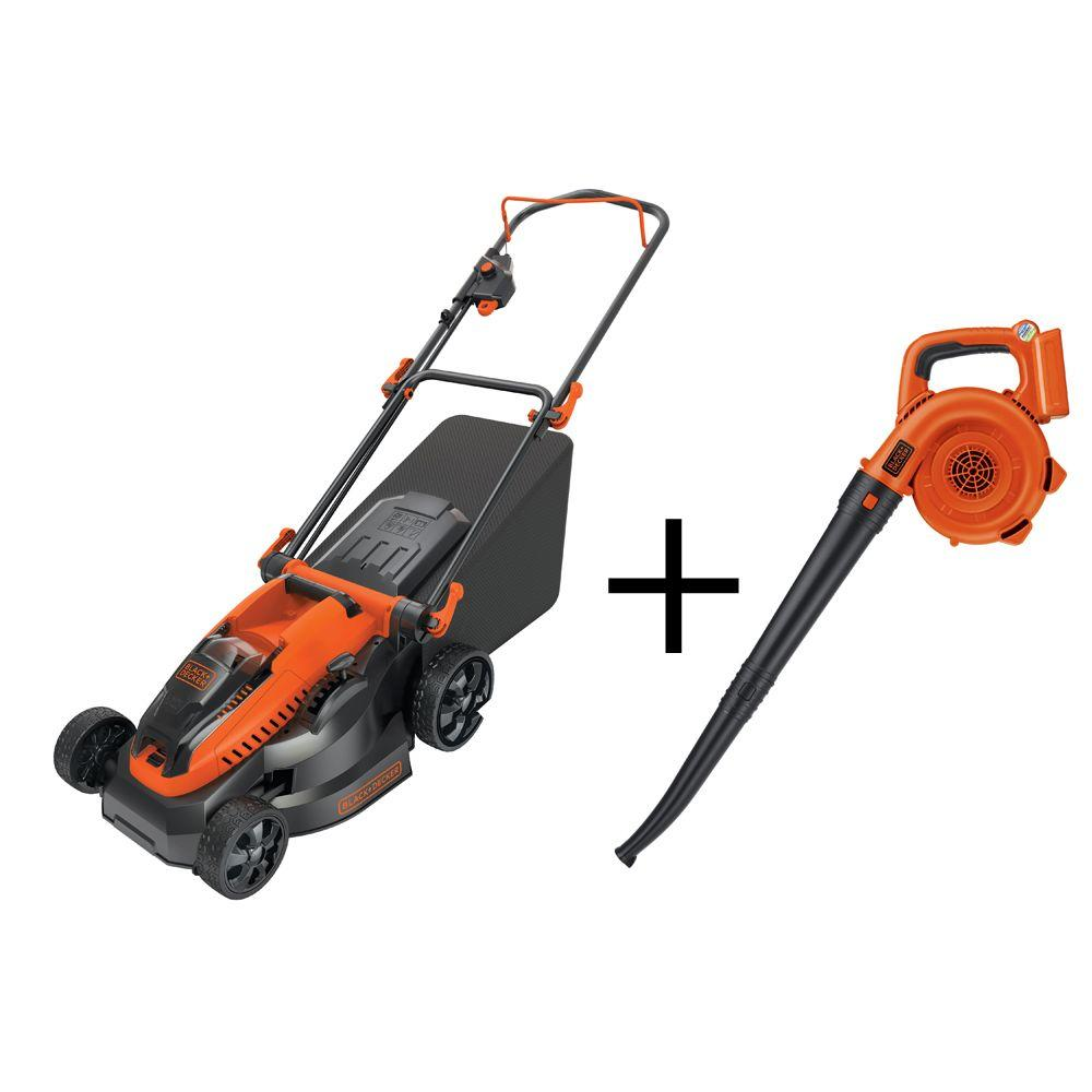 16 in. 40-Volt Walk-Behind Cordless Electric Mower with Free Electric Sweeper (2-Tool)