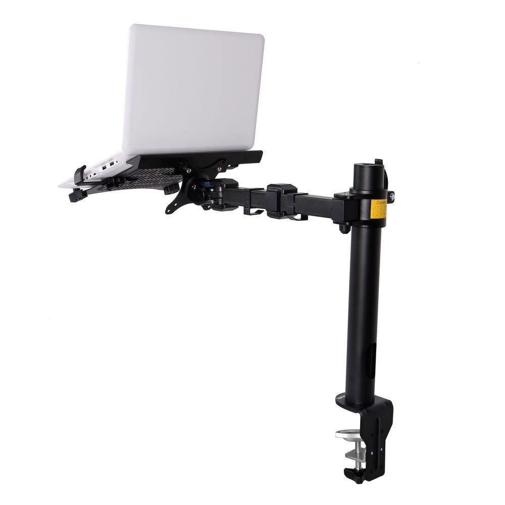 2-in-1 Monitor Arm Desk Mount LCD Stand Fits 11-15.6 in. Notebooks