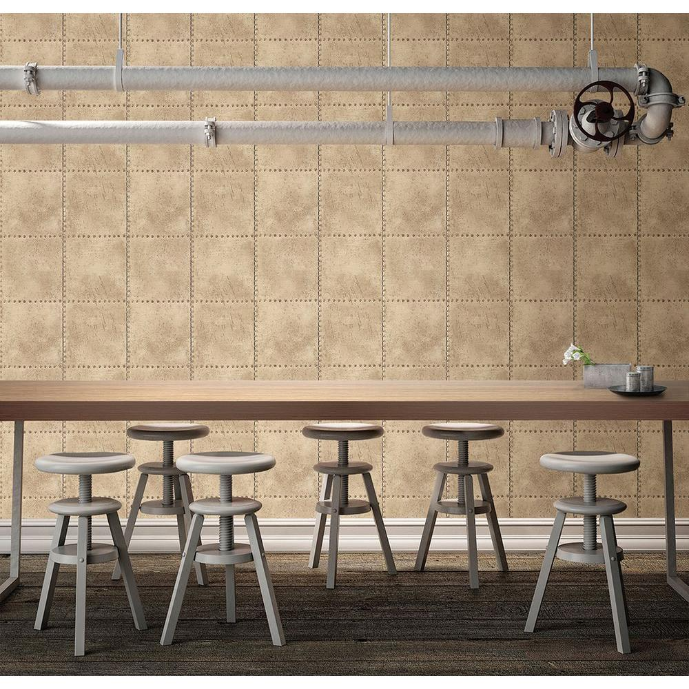 8 in. W x 10 in. H Metal Gold Texture Wallpaper