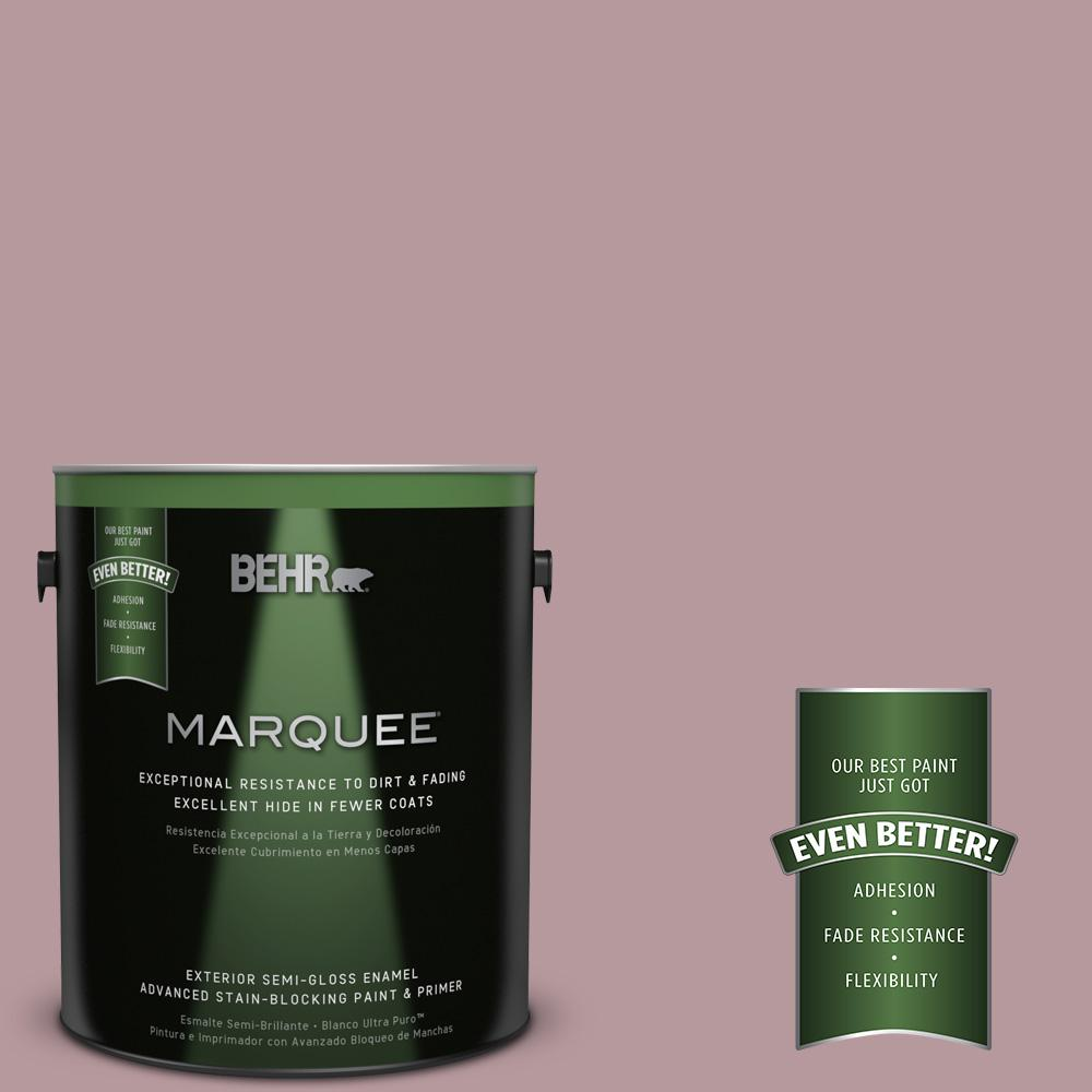 BEHR MARQUEE 1-gal. #PMD-71 Twilight Blush Semi-Gloss Enamel Exterior Paint