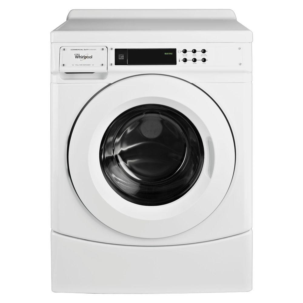 Whirlpool 3.1 cu. ft. High-Efficiency Commercial Front Load Washer in White,