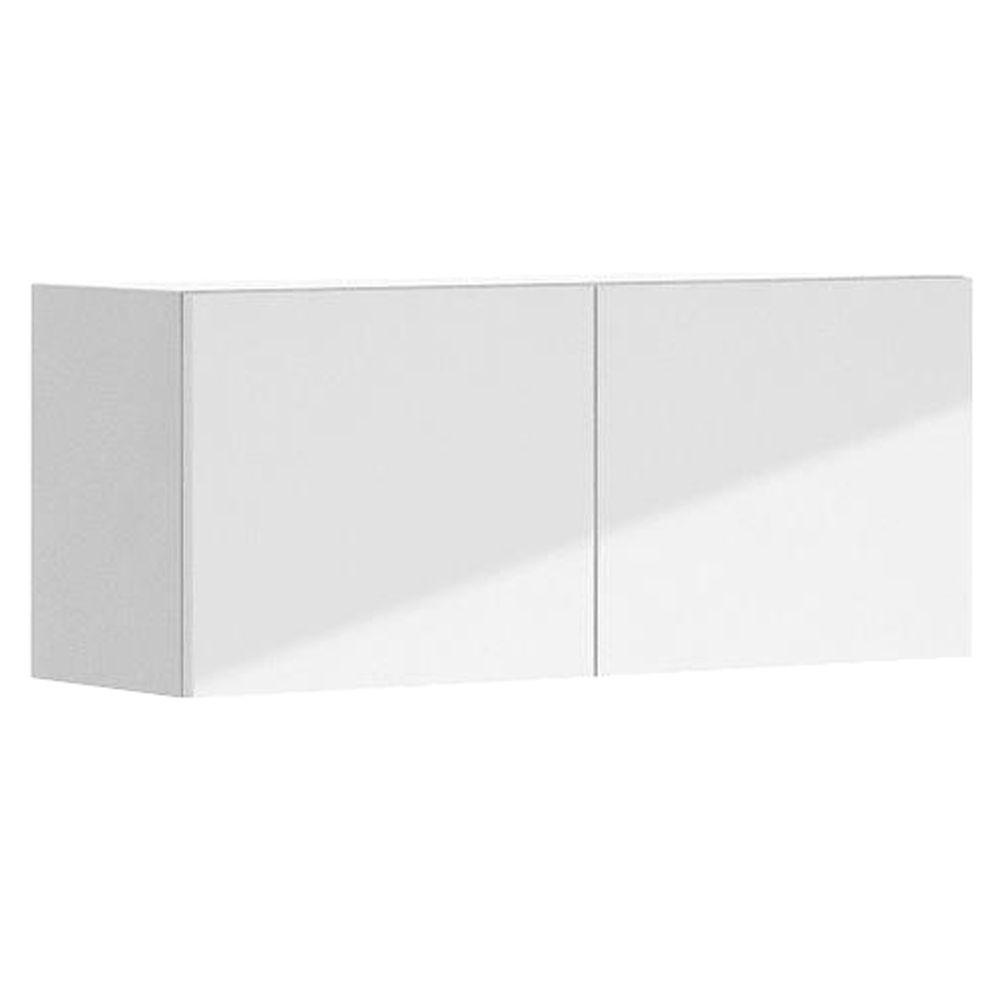 Eurostyle 36x15x12.5 in. Valencia Wall Bridge Cabinet in White Melamine and Door in White