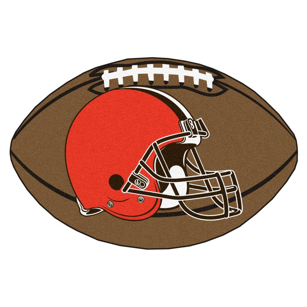 NFL Cleveland Browns Brown 1 ft. 10 in. x 2 ft. 11 in. Specialty Accent Rug