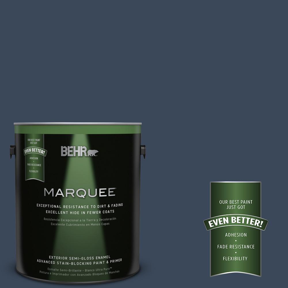 1-gal. #M500-7 Very Navy Semi-Gloss Enamel Exterior Paint